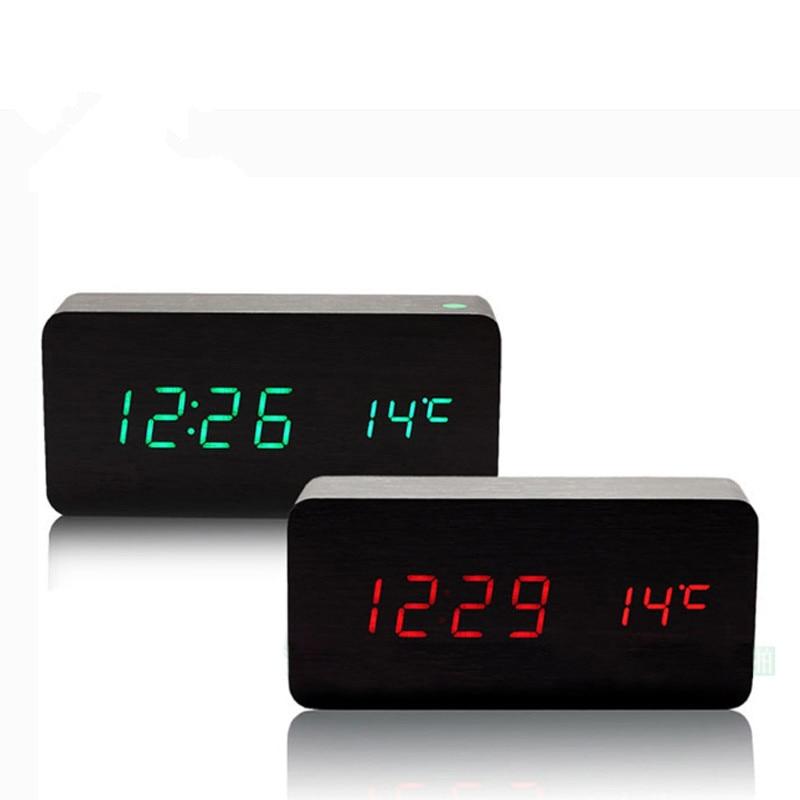 Cute desktop clock mesa de som electronic led reloj for Reloj digital de mesa