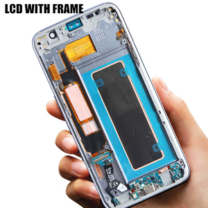Image 5 - شاشة 5.5 بوصة مع شاشة LCD حرق الظل مع الإطار لسامسونج غالاكسي S7 حافة G935 G935F SM G935F مجموعة المحولات الرقمية لشاشة تعمل بلمس