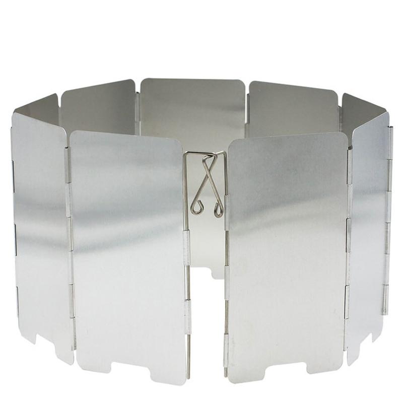 9 Плочи Вятърни дефлектори на открито Сгъваема къмпинг печка на предното стъкло Готварска печка на вятъра Екрани за вятърни съоръжения