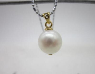 Super naturel 9-10 MM mer du sud argent gris perle collier 25 pouces argent fermoir @Super naturel 9-10 MM mer du sud argent gris perle collier 25 pouces argent fermoir @