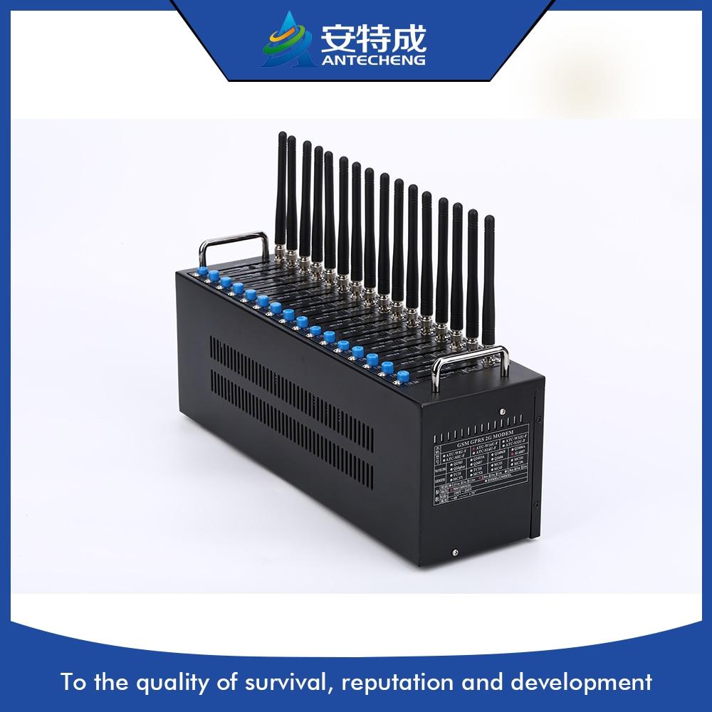 Фабрика низкой цене 16 портов смс модемный пул, сим карты Wavecom модули 16 портов gsm модема бассейн