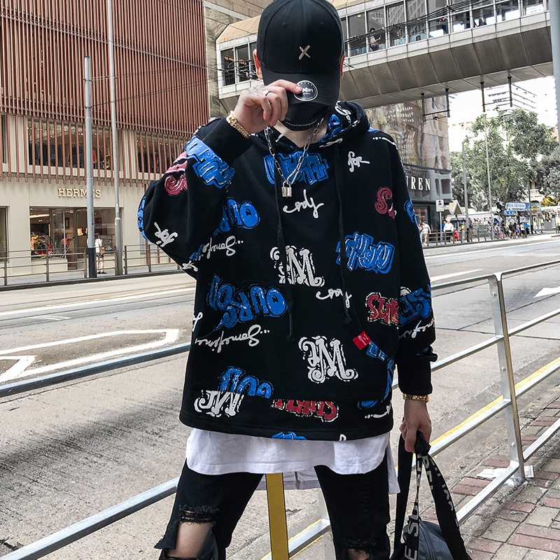 Hoodies & Sweatshirts Novel Ideas Hip Hop Graffiti Hoodies Mens 2018 Autumn Casual Pullover Sweats Hoodie Male Fashion Skateboards Sweatshirts Us Size