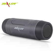 Zealot S1 Bluetooth Altavoz Al Aire Libre Portable de La Bicicleta Subwoofer Altavoces de Graves 4000 mAh Banco de Potencia + luz LED + Soporte Para Bicicleta + mosquetón