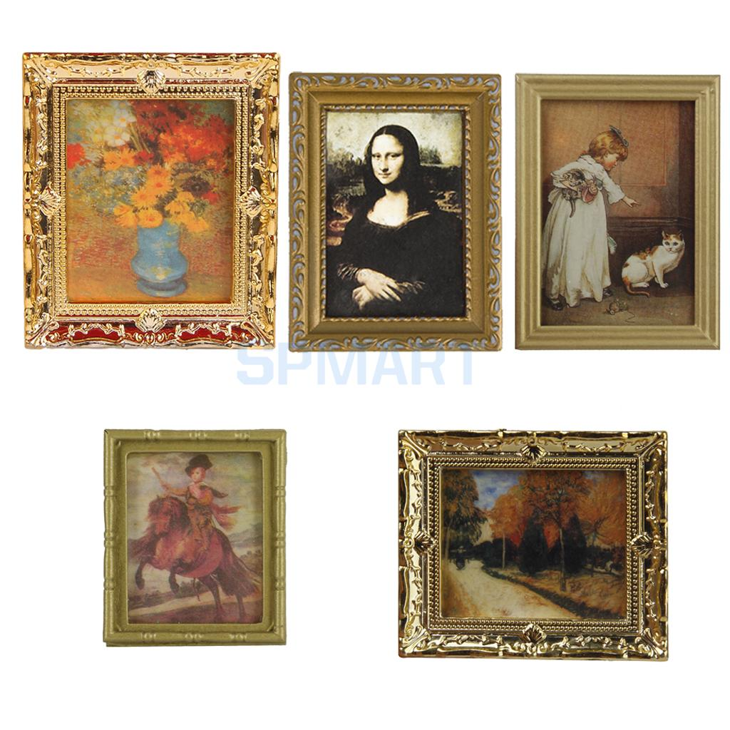Popular miniature frame buy cheap miniature frame lots for Dollhouse mural