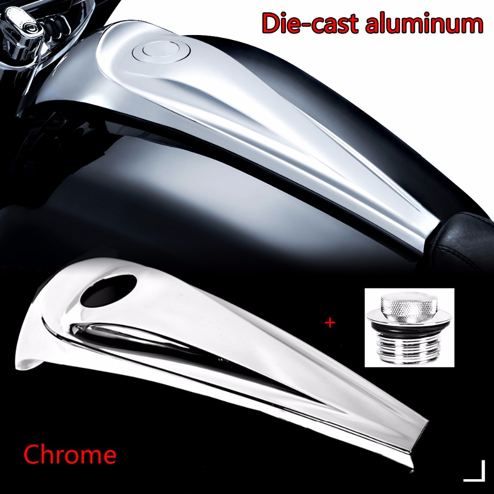 Aluminum Chrome Smooth Dash Fuel Console Cover&Gas Tank Cap For Harley 2008-2018 Touring Electra Street Glide Road Models motorcycle deep cut slot track dash cover insert fuel tank console door cover for harley touring flhx cvo flhxse custom fltrx