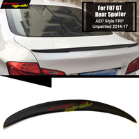 Fit For BMW F07 GT Rear Trunk Spoiler Wing FRP Unpainted Black P Style 5 Series GT F07 535iGT 550iGT Tail Trunk Lip Wing 2014 17