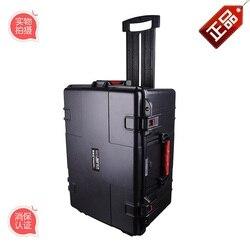 Große werkzeug fall toolbox trolley Auswirkungen beständig wasserdicht versiegelt sicherheit ABS fall 570-393-291 MM kamera fall mit schaum