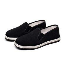 Тканевая обувь для отдыха мужская ткань один износостойкие шин ручной чисто черная Тканевая обувь с тысячей слоев дно NNG-24