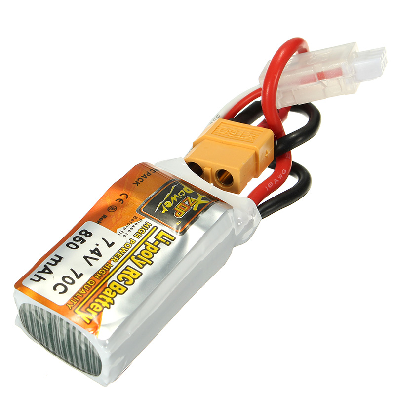 High Quality ZOP Power 7.4V 850mah 70C 2S RC Drone Spare Part XT60 Plug Li-po Batteries Lipo Battery For RC Drone Outdoor Toys