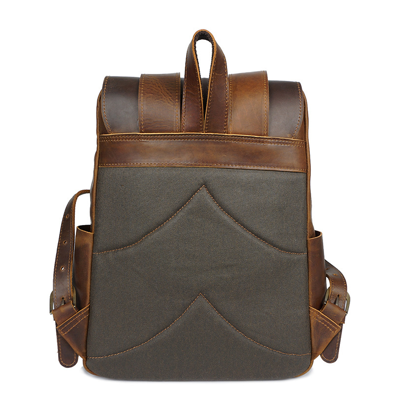 CHARA S BAG brand Cowhide waterproof backpack men women Retro crazy horse leather backpack Unisex Travel vacation Shoulder Bags in Backpacks from Luggage Bags