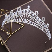 Princess Crown Tiara hair band rhinestone headdress Diadem Prom Tiaras and Crowns for Wedding Ornament hair jewelry accessories