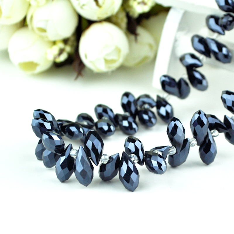 Beads & Jewelry Making The Cheapest Price New Hot Sale Komee 6x12mm 100pcs/lot Nicebeads Black Ab Water Drop Glass Crystal Beads For Diy Necklace Bracelat Jewelry Making To Be Highly Praised And Appreciated By The Consuming Public Jewelry & Accessories