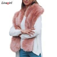 2017 New Design Faux Fur Collar Women Winter Faux Fox Fur Cape Scarf Nice Accessories For