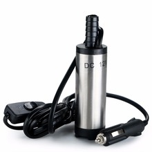 Portable DC 12V Submersible Transfer Pump 38mm Water Oil Diesel Fuel Transfer Cigarette Plug Camping Fishing