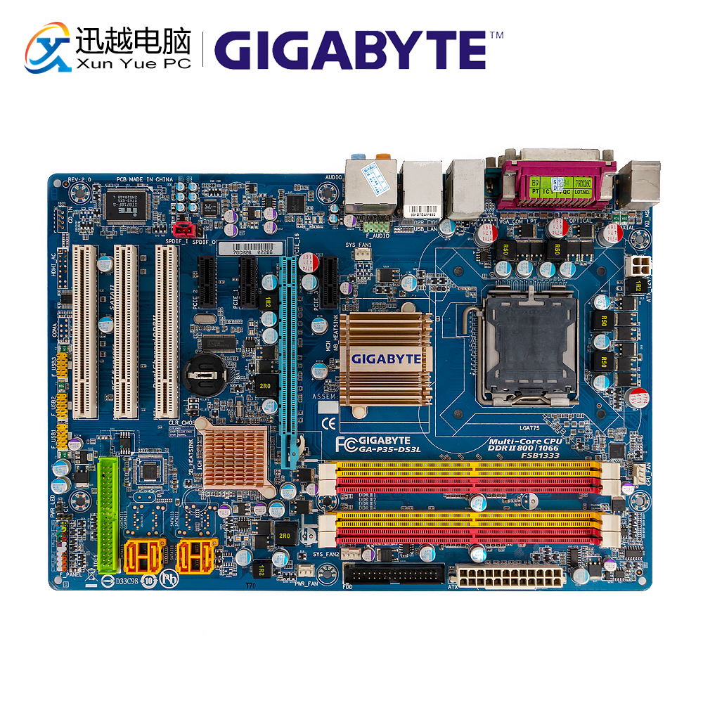 Gigabyte GA-P35-DS3L Desktop Motherboard P35-DS3L P35 LGA 775 Core 2 Extreme Duo Pentium D DDR2 8G SATA2 USB2.0 ATXGigabyte GA-P35-DS3L Desktop Motherboard P35-DS3L P35 LGA 775 Core 2 Extreme Duo Pentium D DDR2 8G SATA2 USB2.0 ATX
