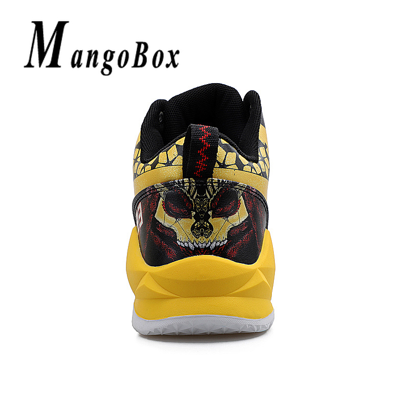 Boy Outdoor Shoes Red Basketball Sneakers Male Pu Leather Sneakers Men High Top Brand Gym Shoes Designer Basketball Shoes Sport 4