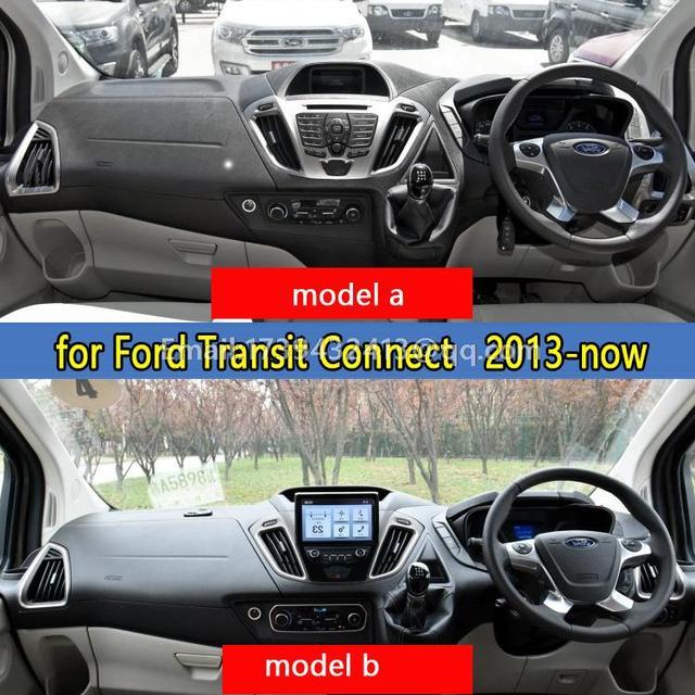 Salpicadero del coche cubre accesorios pegatina salpicadero para ford transit connect titanium wagon 2013 2014 2015 2016 rhd