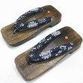 IVI 2016 Ethnic Cosplay Flip Flops Unisex wooden Summer Sandals Japanese Geta Clogs shoes non-slip Wooden Slippers