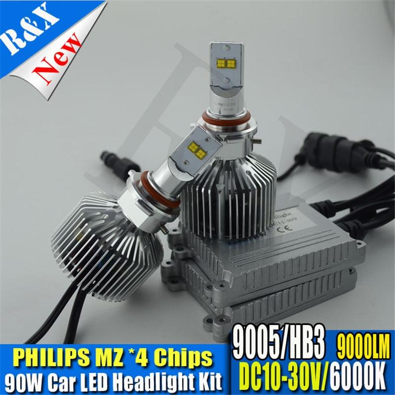 2X Plug & Play 9005 HB3 P6 MZ LED 90W 9000LM 6000K XENON WHITE BULB REPLACEMENT DRL DAYTIME DRIVING FOG HEADLIGHT