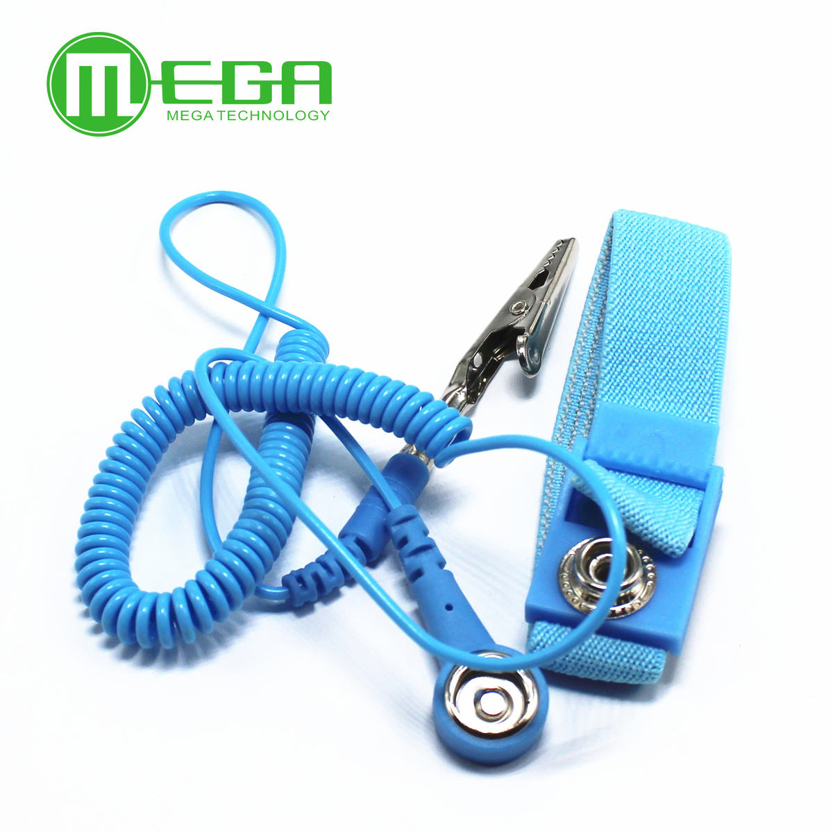 Strap Bracelet Wrist-Band Esd-Discharge-Cable Electrostatic Adjustable with Grounding-Wire