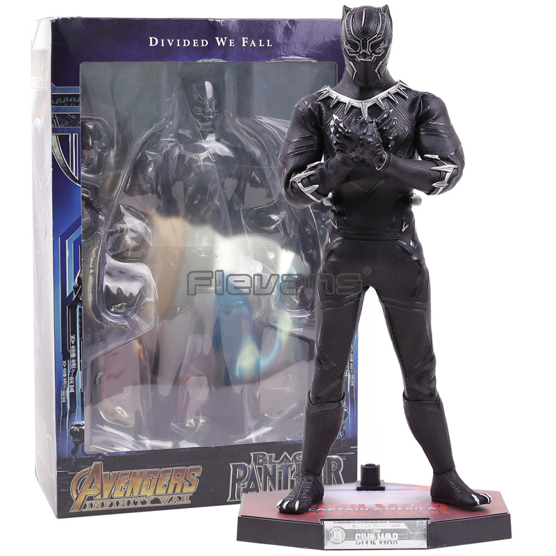 HC TOYS Marvel Avengers Infinity War Movable Black Panther PVC Action Figure Collectible Model Toy avengers black widow alltronic era movable joints boxed hand do pvc action figure collectible toy