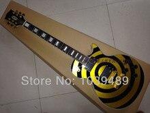 HEIßER VERKAUF Gitarre Zakk Wylde Bullseye schwarz + gelb style E-gitarre + freeshopping