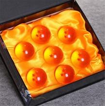 Japan Anime Dragon Ball Z Orange Crystal Toys Ball 3.5cm One Set Gift Collection