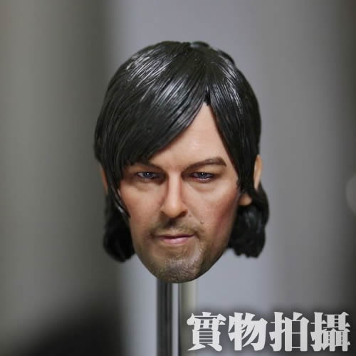 Brand New 1/6 Scale The Walking Dead Daryl Dixon Head Sculpt For 12'' Action Figure Model Toy Accessories -Free Shipping brand new 1 6 scale mad max 4 imperator furiosa charlize theron head sculpt for 12 action figure model toy accessories