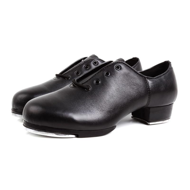 Tap Zapatos Mujer Saltation Suave parte inferior Estampado Deportes Hombres Zapato Baile Baile Zapatos de cuero natural Mujer Zapatillas paso