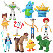 Toy Story 4 Anime Figure Woody Buzz Lightyear Jessie forky Alien collectible Doll kids toys 3pcs/7pcs/9pcs/11pcs