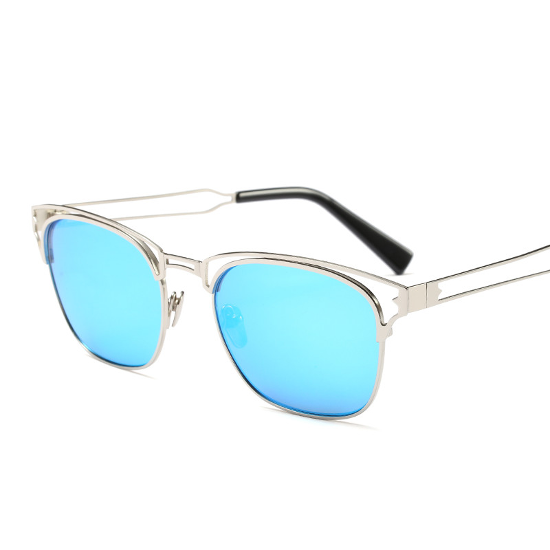 2018 Hot Sale Fashion square Metal street shot retro Men women Sunglasses Vintage Brand star Designer uv400 protection PC-091