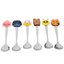 Cute Teaspoons Stainless Steel Cartoon Spoons Creative Ice Cream Dessert Long Handle Coffee Tea Spoon Tableware Drinkware Supply(China)