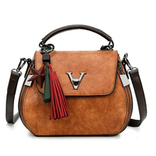 Women Handbags 2018 Quality Tassel Famous V Designers Leather Luxury Crossbody Bags Womens Shoulder Bag Bolsa Feminina