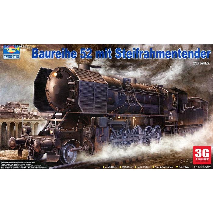 1/35 Trumpeter  00210 World War II German military model type steam locomotive BR52