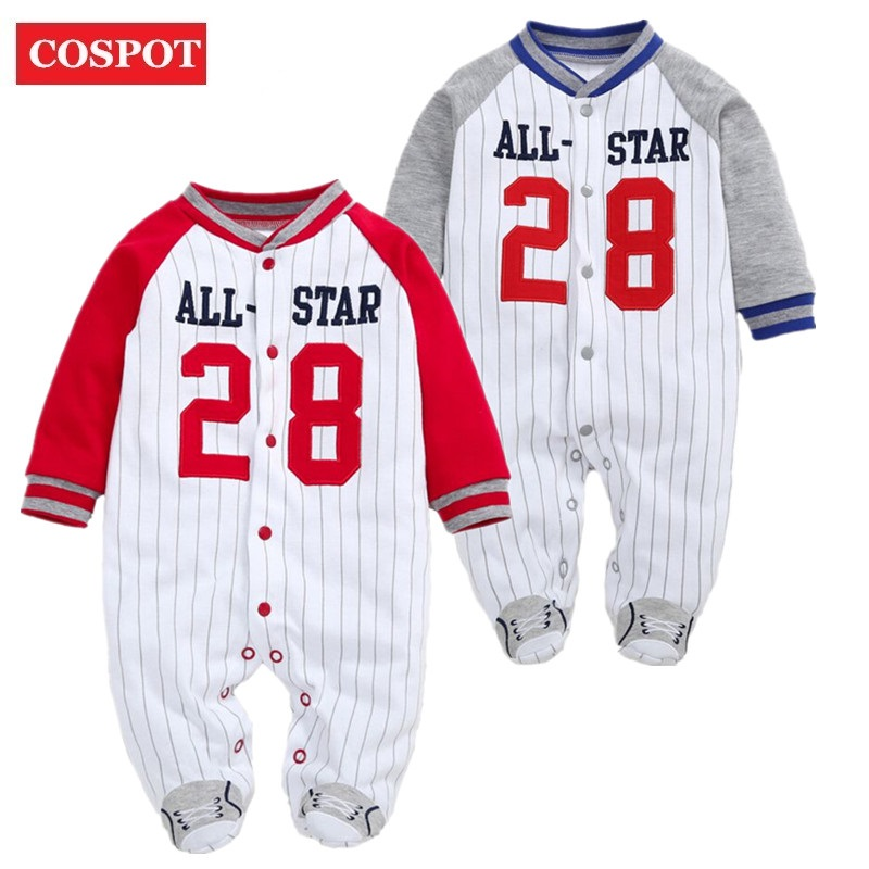 COSPOT 2018 New Newborn Footies Spring Winter Striped Long Sleeved Jumpsuit Pajamas Baby Boys Boy Bebes Clothes Body Suit D35