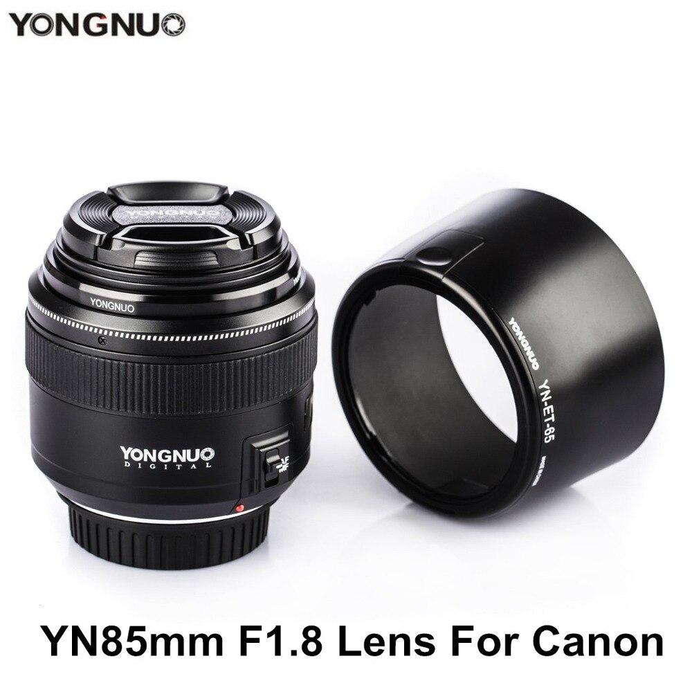 YONGNUO YN85mm F1.8 Objectif AF/MF Standard & Moyen Téléobjectif Premier Objectif fixe focus Lens Pour Canon EF Mont DSLR Caméra Lentilles