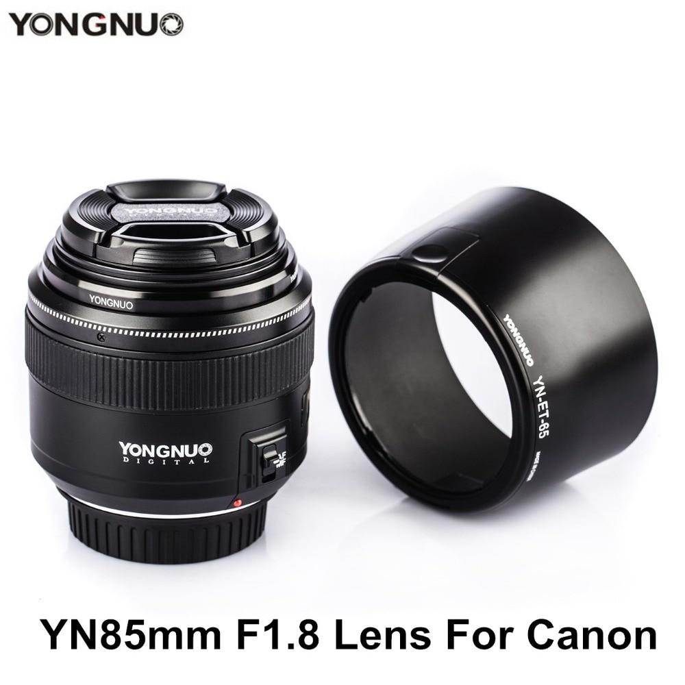 YONGNUO YN85mm F1.8 Objektiv AF / MF Standardní a střední - Videokamery a fotoaparáty