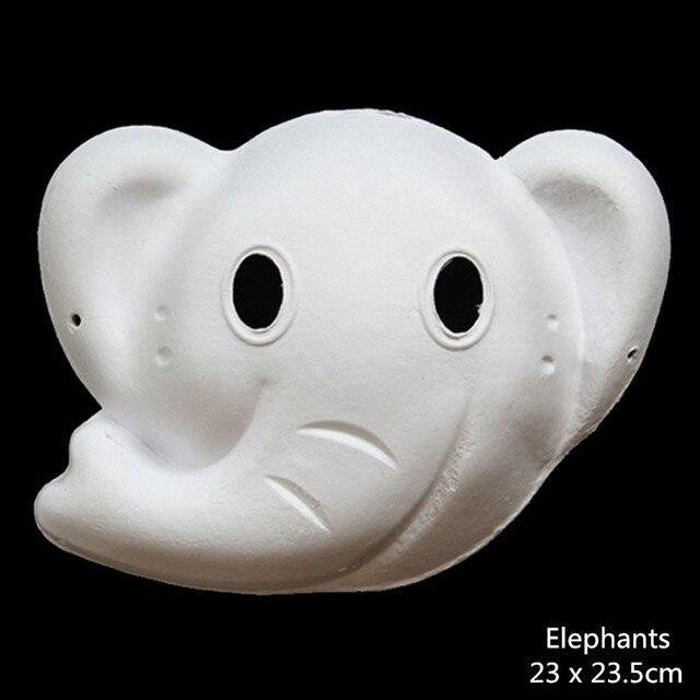 Aliexpress.com: Comprar Sin pintar papel partido DIY máscaras niño ...