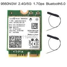 인텔 9560ngw 용 새로운 듀얼 밴드 무선 ac 9560 802.11ac ngff 2.4g/5g 2x2 wi fi 카드 bluetooth 5.0 ngff/m.2