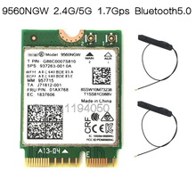 Nova banda dupla sem fio ac 9560, para intel 9560ngw 802.11ac ngff 2.4g/5g 2x2 cartão wi fi bluetooth 5.0 ngff/m.2