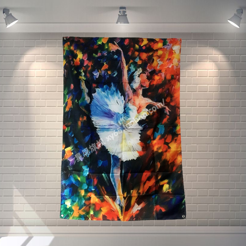 Ballet Retro Poster Banners Ballroom Modeling Studio Wall Decor