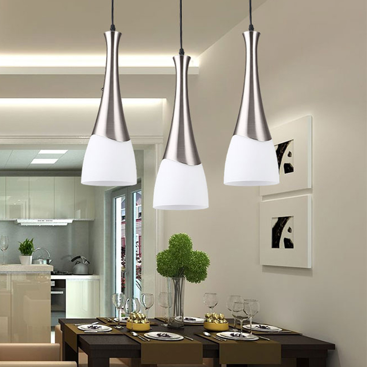3heads lamps Restaurant chandelier creative personality dining lights dining room lights modern simple study bar hanging FG385 contemporary and contracted creative personality retro art glass chandelier cafe restaurant study lamps act the role of milan