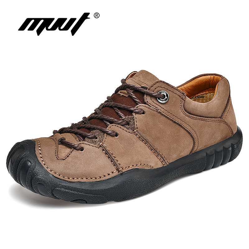 Genuine Leather Casual Shoes Men Top Quality Rubber Non Slip Men Shoes Soft Men Flats For
