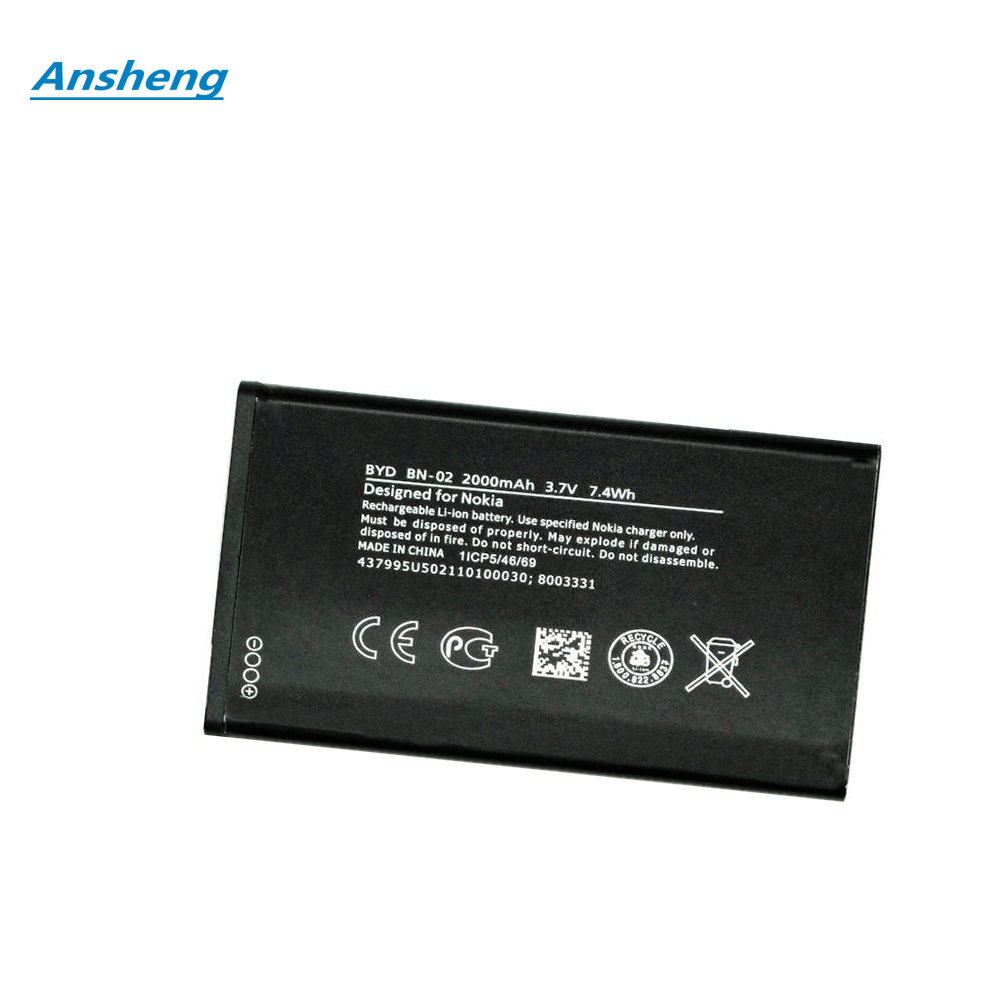 US $6 08 |Ansheng High Quality 2000mAh BYD BN 02 battery for Nokia XL / XL  4G RM 1030 RM 1042 RM 1061 Smartphone-in Mobile Phone Batteries from