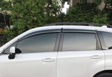 4PCS font b Exterior b font Side Door Window Vent Shades Deflector Guard Trim For Subaru