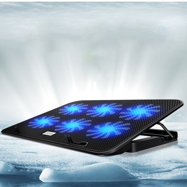 20 шт/много USB Для Ноутбука Радиатор 6 вентиляторы Для 12 ''до 17'' Ноутбук Охлаждения Cracket база Pad