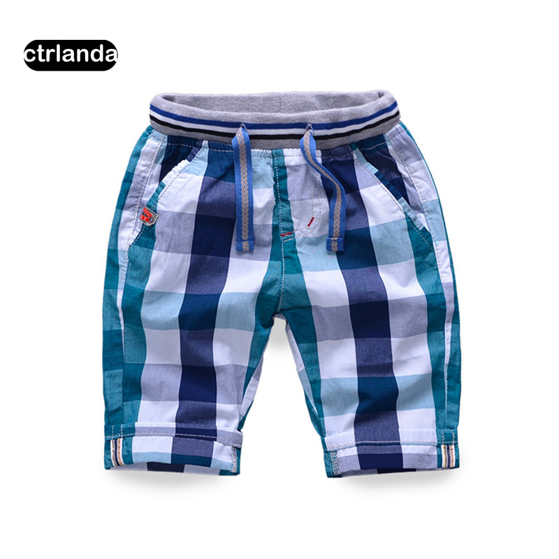 baby boys shorts cotton plaid pattern casual shorts kids classic beach shorts children clothing toddler boy checks board short