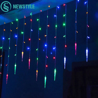 Holiday Lighting 3 5M 96 LED Icicle Home Xmas Decoration Christmas Lights Outdoor Waterproof Fairy Curtain