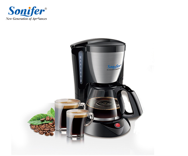 1 25l Electric Drip Coffee Maker Household Large Machine 12 Cup Tea Pot 220v