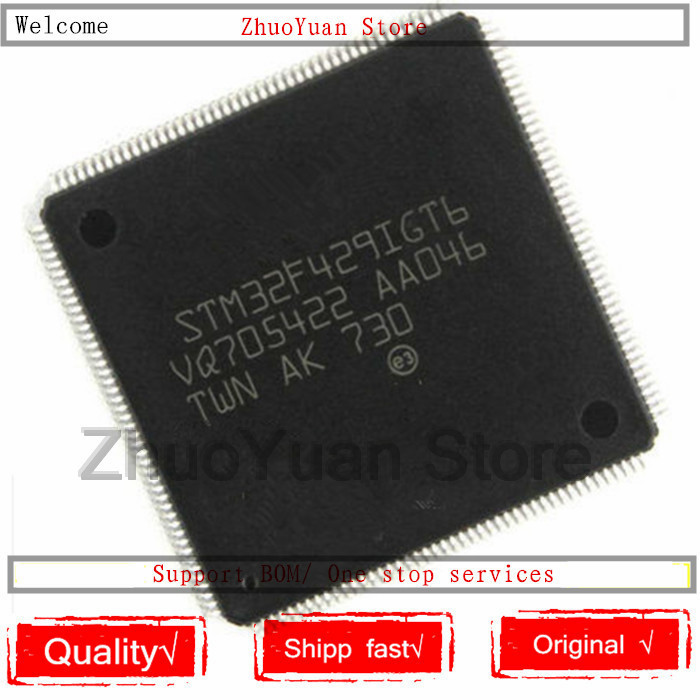 1PCS/lot New Original STM32F429IGT6 STM32F429 LQFP176 IC Chip